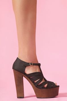 Colette Cutout Platform.  Chunky heel.  Vegan leather.  Want them really bad:)
