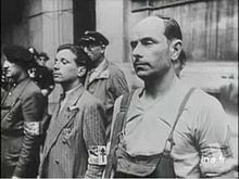 French resistance fighters in Paris at the Hotel de Ville, 1944.