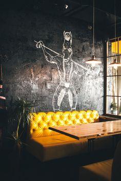 Vintage industrial decor – Eclectic Home Decor Today Lounge Design, Pub Design, Coffee Shop Design, Bar Lounge, Loft Design, Deco Design, Cafe Industrial, Vintage Industrial Decor, Industrial Style
