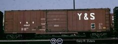 Y, Youngstown and Southeastern Railroad 50' Single Door Boxcar, 12047 June 10th, 1985, Toronto, Ontario