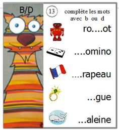 atelier confusions sons : écrire des mots French Education, Kids Education, French Numbers, Jolly Phonics, French Resources, Learning The Alphabet, Teaching French, Confused, Activities For Kids