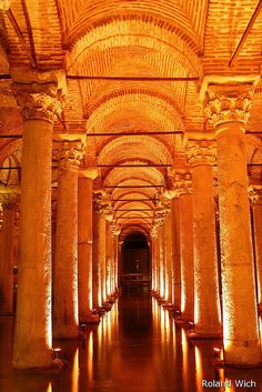 Orange - Basilica Cistern, Istanbul by Rolandito. Places Around The World, Oh The Places You'll Go, Places To Travel, Around The Worlds, Wonderful Places, Great Places, Beautiful Places, Amazing Places, Church Stage Design