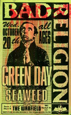 GigPosters.com - Bad Religion - Green Day - Seaweed