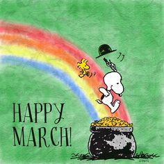 Happy March!   --Peanuts Gang/Snoopy & Woodstock