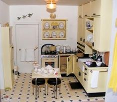miniature vintage kitchen. This leads to a nice site...kits for every room