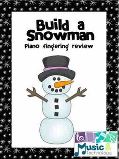 Build a Snowman Piano Keys Review- Students review their note names and piano keys with this fun activity. #musiceducation #teacherspayteachers #assessments #games #holidays #notenames