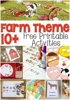 Farm Theme Free Printables for Learning! So many great ideas to add to your farm theme! I especially love the masks! Farm Theme Free Printables for Learning! So many great ideas to add to your farm theme! I especially love the masks! Farm Activities, Animal Activities, Playdough Activities, Animal Crafts, Educational Activities, Farm Animals Preschool, Preschool Kindergarten, Preschool Themes, Teaching Themes