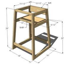 Merveilleux Ana White | Build A Restaurant High Chair | Free And Easy DIY Project And  Furniture Plans
