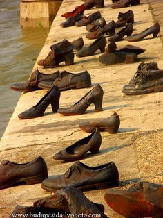 Iron shoes on the danube ; memorial http://www.budapestdailyphoto.com/index.php/2009/04/18/iron-shoes/