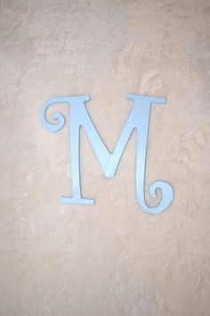 8 Painted Nursery Letter Boy Baby Door Hanger Wall Hanging Wooden Playroom