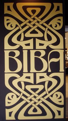 love the biba logo! But i find some particular shades of black & gold a bit harsh