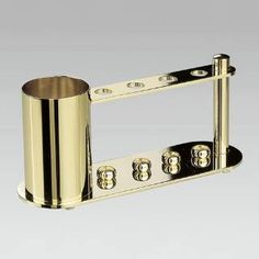 "Check out the Windisch by Nameeks 83111-CRO Windisch 3-1/2""W Tooth Brush Holder in Chrome-Gold"