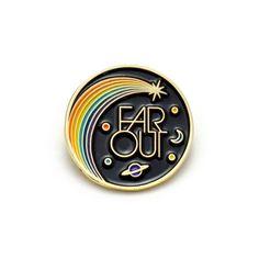 Far Out Enamel Pin by luckyhorsepress on Etsy https://www.etsy.com/listing/473152053/far-out-enamel-pin