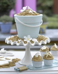 Yummy Beach Wedding Cupcakes ? Creative Wedding Cupcakes for Beach Wedding