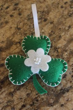 Embroidered St. Patrick's Day Felt Shamrock by jwgcreations, $9.00