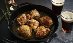 A rich brown ale pulls double duty in this recipe: As a beer brine, it tenderizes the meat, injecting it with rich flavor. As the beer deglazes the pan, it lends a new flavor dimension to the sweet and tangy sauce.