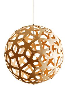 Suspension Coral / Ø 40 cm - Bois naturel Bois naturel - David Trubridge