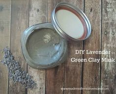 Simple 3-ingredient lavender green clay mask -- helps soothe acne, redness, scaring, and other skin issues naturally!