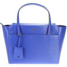 Electric Blue Leather Parker Small Tote ($236) ❤ liked on Polyvore featuring bags, handbags, tote bags, blue, womenbags, genuine leather tote, blue leather handbags, leather tote, blue leather tote and leather tote purse