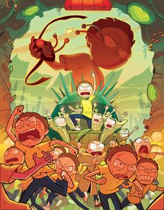 — My piece for the Rick and Morty Fanzine   Mortys,...