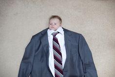 New idea for a baby photo. Haha