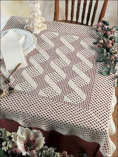 Crochet for the Home - Crochet Tablecloth & Table Runner Patterns - Cascade Tablecloth