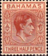 Bahamas 1938 George VI SG 151 Fine Mint Scott 102 Other Bahamas Stamps HERE