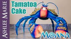 How to make a Giant Tamatoa Cake From Disney's Moana - Life size coconut...