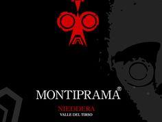 MONTIPRAMA. Terre del Sinis Linea. Studio grafica etichetta Cantina della Vernaccia. © KLS