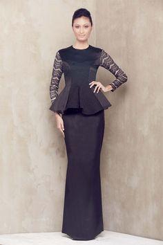 Emel by Melinda Looi - Baju Raya Collection 2013 Abaya Fashion, Muslim Fashion, Ethnic Fashion, Love Fashion, Fashion Outfits, Fashion Design, African Fashion, Traditional Fashion, Traditional Dresses
