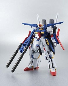 """Bandai Tamashii Nations Robot Spirits Enhanced ZZ Gundam """"Gundam ZZ"""" Figure -- Despite its bulky form this high-end action figure release will feature advanced articulation characteristic of the robot spirits line-up Deluxe figure set also features interchangeable hand parts (x3), mega beam rifle, and beam saber (x2) accessories Set also includes fierce beam swords (x2), interchangeable hands (x4) and piece for the super mode transformation # # #1"""