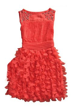 Watermelon Beading Round Neck Tank Chiffon Dress. Want!