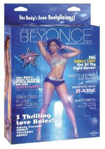 Pipedream Products Beyonce Love Doll, Brown by Pipedream Products. $24.27. Inflatable. 3 love holes. Always ready to satisfy. She ain't no beyonce! she's a blow-up bee-yatch who's crazy in love with cock! you don't have to put a ring on this pumped-up pop diva to make her all yours though--just add air and this bootylicious babe is your date for the night! don't let her seductive smile and good-girl reputation fool you--her three love holes are begging to be filled ...