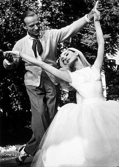 """""""Funny Face"""" Fred Astaire and Audrey Hepburn."""