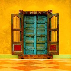{lovely colours} Mexican door