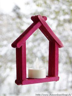 """""""Parempi olla pieni ja valaista kuin iso ja varjostaa."""" - Anita Tiikasalo Viimeiset pari viikkoa ovat olleet niin Kal... Iso, Candle Sconces, Wall Lights, Candles, Crafts, Home Decor, Crafts To Make, Xmas, Appliques"""