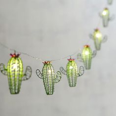 For a fabulous, intimate lighting accent, think small. Our battery-powered Cactus Glimmer Strings® use tiny (some would say magical) LEDs the size of a grain of rice strung along shapeable, thread-sized silver filament to create an almost weightles My New Room, My Room, Dorm Room, Decoration Cactus, Cactus Light, Ideias Diy, Home And Deco, Fairy Lights, String Lights