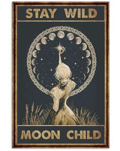 Type Posters, Poster Prints, Stay Wild Moon Child, Kids Poster, Practical Magic, Sale Poster, Art For Kids, Canvas Prints, Drawings