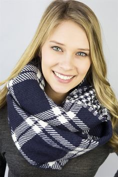 A Season Favorite!!!  We love love LOVE this two pattern reversible scarf.    Easily twist to show off both designs - but so easy to hide one design and wear the other exposed.  You will be sure to hit the jackpot with this scarf!!!  Perfect Stocking Stuffer!!Made with a warm and cozy acryllic fabric. Available in 9 AMAZING options!!Buffalo Check & PlaidNavy Plaid & HoundstoothBlack Plaid & HoundstoothRed Plaid & HoundstoothBurgundy Plaid & HerringboneHoliday Re...