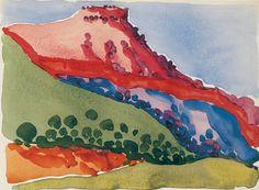 Red Mesa, by Georgia O'Keefe