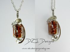 "Here's your chance to win this Red Fade Lampwork Wire Sculpted Pendant.  It's handcrafted from flowing 1/10 Sterling Silver Filled wire and features a bold red fade lampwork glass with glittery copper flakes.   Included is a 18"" silver plated double loop chain.  All you have to do to enter is re-pin to one of your boards. Easy as that!  Winner will be chosen July 1st.  Good luck everyone!  www.dzidesignsjewelry.com"