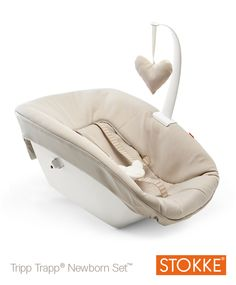 Buy the Stokke® Tripp Trapp® Newborn Seat at JustKidding baby shop online. Tripp Trapp® Newborn Set is designed to lift your newborn up to your table. Baby Set, Trip Trapp, Stokke Newborn Set, Chaise Haute Stokke, Tripp Trapp Chair, Mamas And Papas, Bugaboo, Prams, Nursery Furniture