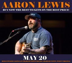 Aaron Lewis in Charles Town at Hollywood Casino at Charles Town Races on May 20. More about this event here https://www.facebook.com/events/1828670190788094/