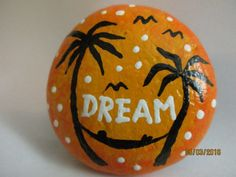 Painted rock DREAM by PlaceForYou on Etsy