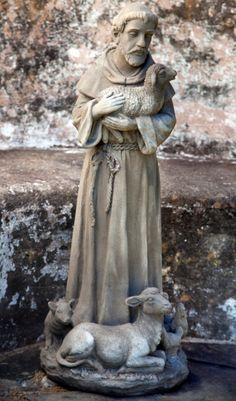 St. Francis Stone Statue