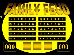A list of the best free Family Feud PowerPoint templates for teachers. Create a fun game of Family Feud for your students. Family Feud Fast Money, Family Reunion Games, Family Games, Family Reunions, Group Games, Family Feud Template, Summer Camp Games, Summer Fun, Best Templates
