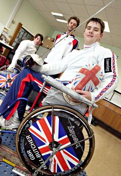 Team GB Paralympic fencers training @ Coventry University