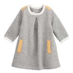 Grey marl jersey tunic dress