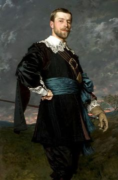 Portrait of Stanisław Czachórski (the artist's brother) in a masquerade outfit a la van Dyck, by the Polish artist Władysław Czachórski, In the National Museum in Warsaw, Poland. Masquerade Outfit, Renaissance Portraits, Montage Photo, Oil Portrait, National Museum, Beautiful Paintings, Painting & Drawing, Art History, Art Gallery