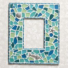 Mosaic Picture Frame tutorial... great project for the kids =)
